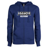 ENZA Ladies Royal Fleece Full Zip Hoodie-Manor Alumni