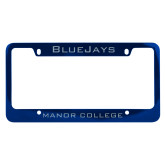 Metal Blue License Plate Frame-Bluejays