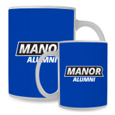 Alumni Full Color White Mug 15oz-Manor Alumni