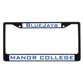 Metal License Plate Frame in Black-Bluejays