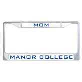 Mom Metal License Plate Frame in Chrome-Mom