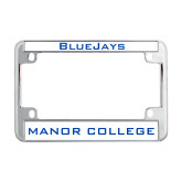 Metal Motorcycle License Plate Frame in Chrome-Bluejays