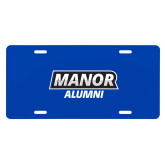 License Plate-Manor Alumni