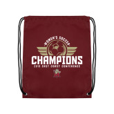 Maroon Drawstring Backpack-2019 Womens Soccer Champs