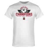 White T Shirt-2019 Womens Soccer Champs