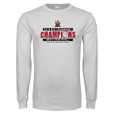 White Long Sleeve T Shirt-2019 ECC Tournament Champions Mens Basketball