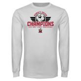 White Long Sleeve T Shirt-2019 Womens Soccer Champs