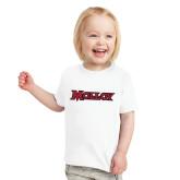 Toddler White T Shirt-Molloy Wordmark