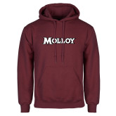 Maroon Fleece Hoodie-Molloy Wordmark