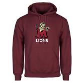 Maroon Fleece Hoodie-Lions