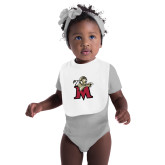 White Baby Bib-Lion with M