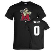 Black T Shirt-Lion with M, Custom tee w/ name and #