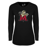 Ladies Syntrel Performance Black Longsleeve Shirt-Lion with M