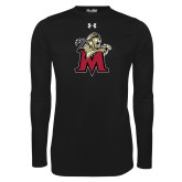 Under Armour Black Long Sleeve Tech Tee-Lion with M