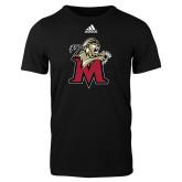 Adidas Black Logo T Shirt-Lion with M