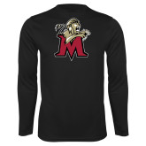 Performance Black Longsleeve Shirt-Lion with M