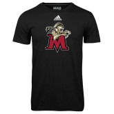 Adidas Climalite Black Ultimate Performance Tee-Lion with M