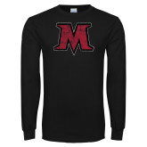 Black Long Sleeve T Shirt-M Distressed