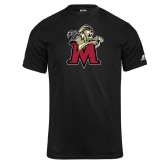 Russell Core Performance Black Tee-Lion with M