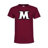 Youth Maroon T Shirt-M