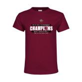 Youth Maroon T Shirt-2019 ECC Tournament Champions Mens Basketball