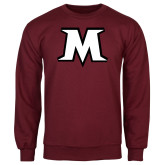 Maroon Fleece Crew-M