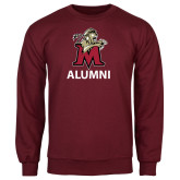Maroon Fleece Crew-Alumni