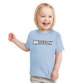Toddler Light Blue T Shirt-Molloy Wordmark