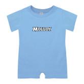 Light Blue Infant Romper-Molloy Wordmark