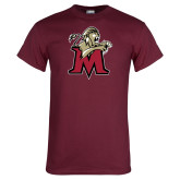 Maroon T Shirt-Lion with M