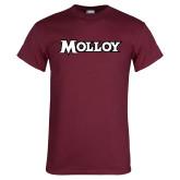 Maroon T Shirt-Molloy Wordmark