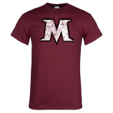 Maroon T Shirt-M Distressed