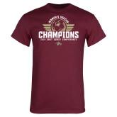 Maroon T Shirt-2019 Womens Soccer Champs
