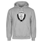 Grey Fleece Hoodie-Nursing Logo