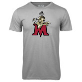 Adidas Climalite Sport Grey Ultimate Performance Tee-Lion with M