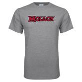 Grey T Shirt-Molloy Wordmark