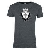 Ladies Dark Heather T Shirt-Nursing Logo