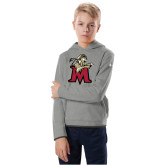 Youth Under Armour Grey Fleece Hoodie-Lion with M