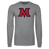 Grey Long Sleeve T Shirt-M