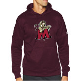 Adidas Maroon Team Issue Hoodie-Lion with M