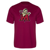 Performance Maroon Tee-Lion with M