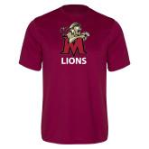Performance Maroon Tee-Lions