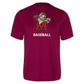 Performance Maroon Tee-Baseball