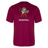 Performance Maroon Tee-Basketball