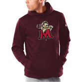 Under Armour Maroon Armour Fleece Hoodie-Lion with M