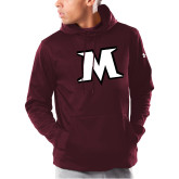 Under Armour Maroon Armour Fleece Hoodie-M