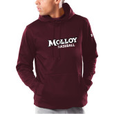 Under Armour Maroon Armour Fleece Hoodie-Wordmark Baseball