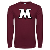 Maroon Long Sleeve T Shirt-M