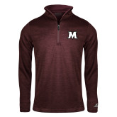 Russell Maroon Heather 1/4 Zip-M