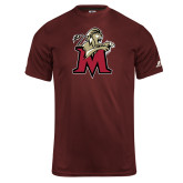 Russell Core Performance Maroon Tee-Lion with M